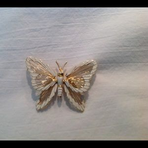 Vintage Monet signed Butterfly Brooch